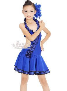 Latin Salsa Ballroom Dance Dress Girls Dancewear Costumes FY039