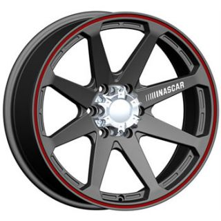 18x9 NASCAR Daytona 8x6 5 Black Red Rims Wheels 2500 3500 Dodge Chevy