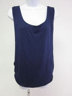 DAFTBIRD Blue Striped Sleeveless Double Layered Tank Top Sz P