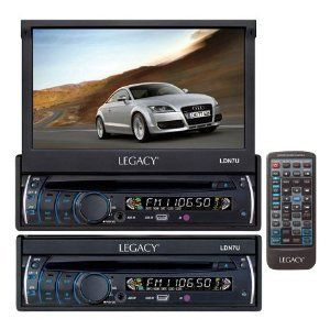 MOTORIZED TOUCH SCREEN DVD CD  PLAYER CAR AUDIO IN DASH MONITOR NEW