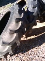 Two Used 13.6x38, 13.6 38 FIRESTONE 6 ply A or B JOHN DEERE Tractor