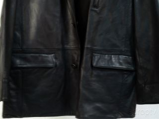 Large Reversible Cremieux Signature Mens Black Leather Jacket