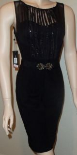 bcbg maxazria new black sleeveless dress sz 6 h78 new with tags size 6