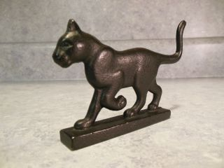VINTAGE FRANKLIN MINT BOOTSCRAPER CURIO CABINET CAT SMALL CAST IRON
