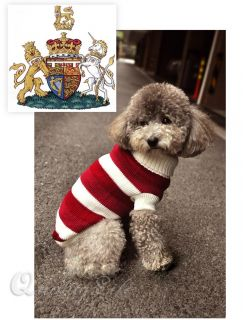 Designer Dog Clothes Stripy Hoodies Coat Puppy Cloth Pet Apparel