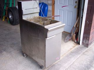 2 Basket Gas Deep Fryer