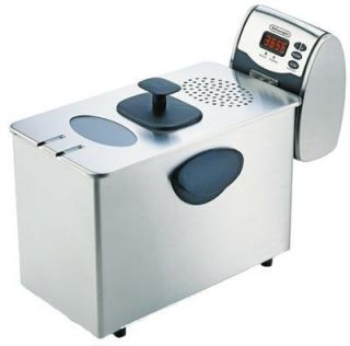 DeLonghi D14427DZ Dual Zone Deep Fryer Stainless Steel