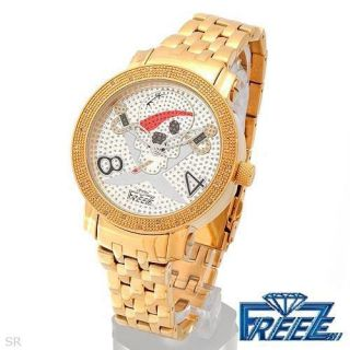 Freeze Diamond Mens Quartz Watch Compare $1 900 00