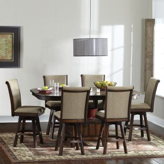 New Home Decor Dining Room Furniture 7 Piece Counter Height Table