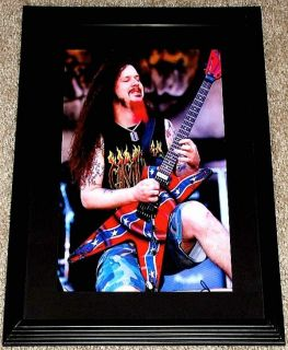 Dimebag Darrell Pantera Washburn Confederate Guitar Framed Portrait