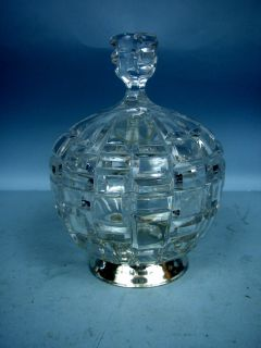 Full Lead Crystal Candy Dish by Godinger w Silver Base