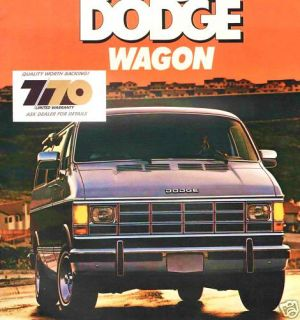 1987 Dodge RAM Wagon Brochure B150 B250 B350 Maxiwagon