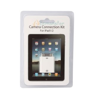 White Mini USB Card Reader Digital Camera Connection Kit Forapple iPad
