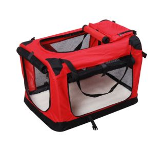 36 Red Portable Folding dog cat Pet carrier tote Crate Dog Cage W/Mat