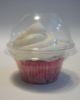 24 Cupcake Favor Box Plastic Container Dome Lid Wedding Bridal Baby