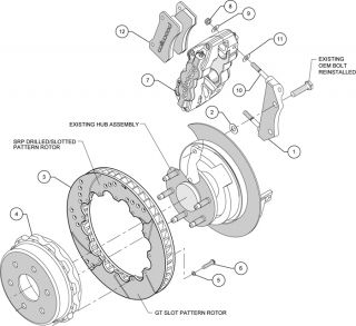 Wilwood Disc Brake Kit GMC Chevy Truck 1500 2P 14 Red Calipers