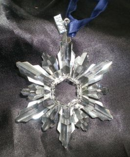 1998 SWAROVSKI CRYSTAL SNOWFLAKE ORNAMENT NO BOX OR CERTIFICATE