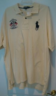 Ralph Lauren Mens Big Tall Pony Flag Polo Shirt 3XLT