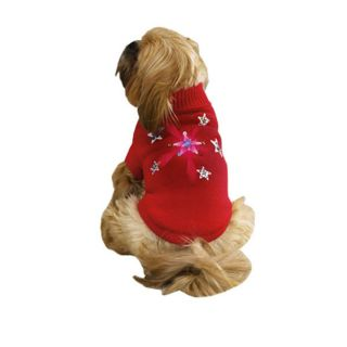 yorkie chi poodle TWINKLING DOG SWEATER clothes apparel CHRISTMAS XS