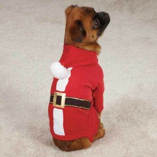 Santa Dog Pajamas Costumes Easy Fit Dogs Pajama PJs Pet Apparel