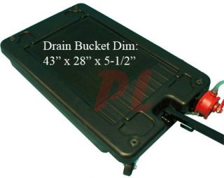 Gallon Low Profile Heavy Truck Car Oil Drain Pan w Pump Wheels