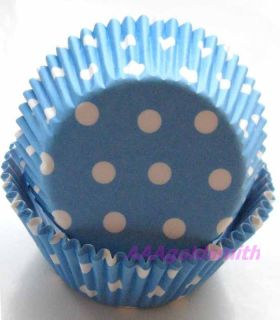 Blue White Dot Cupcake Liners Baking Cup Muffin Cases Paper Cup