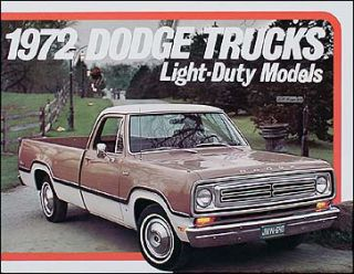 1972 Dodge Pickup Truck Original Sales Catalog 72 Mint D100 D200 D300
