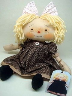 Primitive Doll Raggedy Ann Andy Sweet Blonde Hair Annie