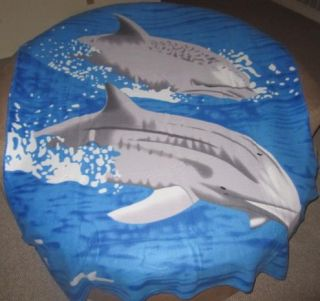 New Pair of Dolphins at Play Soft Fleece Throw Gift Blanket Dolphin