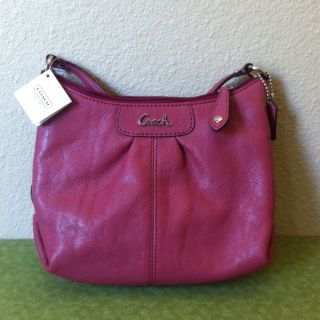 Coach Womens Ashley Leather Swingpack Ginger Beet Crossbody F46872 $