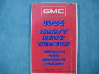 1984 GMC Heavy Duty Trucks Owners and Drivers Manual