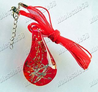 Charm Murano Glass Charm Water Drop Necklace Pendant Wholesale
