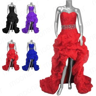 Party Evening Formal Gowns Prom Ball Long Strapless Dresses