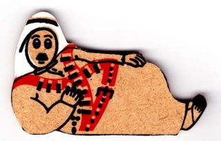 Traditional Clothes Wooden Fridge Magnet From Jordan Middle East Asia