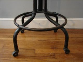 Machine Age Industrial Stool Chair Toledo Uhl Primitive Antique Domore
