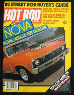 Hot Rod Magazine March 1982 Chevy Nova 396SS