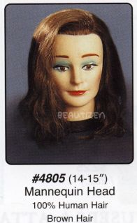 Annie 14 15 Brown 100 Human Hair Mannequin Holder