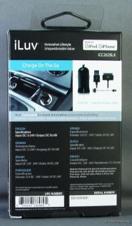iLuv ICC 262 Black Micro Size USB Car Charger for iPod