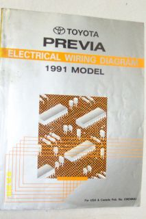 1991 Toyota Previa Van Electrical Wiring Diagram