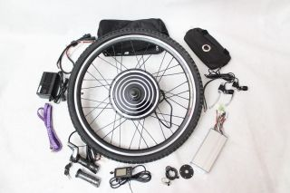 1000W Front Wheel Electric Bicycle Conversion Kits with LCD Display