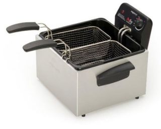 Presto Electric Stainless Steel Dual Tank Pro Fry Deep Fryer for