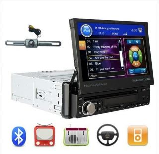 in Dash Car Radio Stereo DVD Player TV Bluetooth Back Camera
