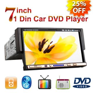 Touch Screen in Dash Car Stereo 1Din DVD Player TV P2