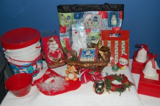 Mixed Lot of 20 Christmas Ornaments Baskets Cookie Cutter Hallmark