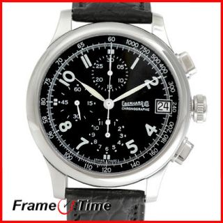 Eberhard Co Traversetolo Chronographe Automatic Black 31051 3STR Watch