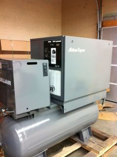 15 HP Atlas Copco GA111 Rotary Air Compressor in Full Quiet Enclosure