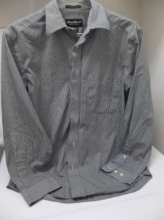 Mens Eddie Bauer Long Sleeve Shirt Button Front Wrinkle Resistant Size