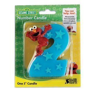 Sesame Street 2 Elmo Birthday Candle Party Supplies