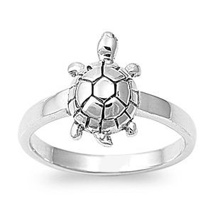 Turtle Ring 925 Sterling Silver Turtle Jewelry New Tortoise Beach Ring