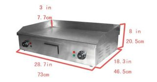 29 Commercial Double Electric Griddle Stainless Steel Flat Top 73cm